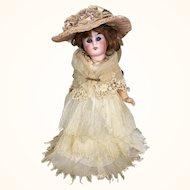 Unusual German Belton head bride doll