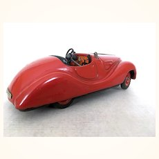 Vintage Schuco Examico red wind up car
