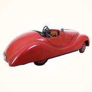 Vintage Schuco Examico red wind up car
