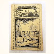 """Antique Book """"Aunt Busy Bee's New Series: The Two Brothers"""" with wonderful color illustrations"""