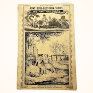 "Antique Book ""Aunt Busy Bee's New Series: The Two Brothers"" with wonderful color illustrations"
