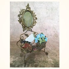 Decorative 19th C. French Miniature Gilded Dressing Table
