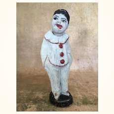 Early Vintage papier mache clown figure