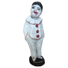 Early Vintage papier mache clown figure