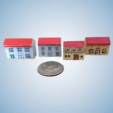 Vintage tiny dollhouse toy wooden houses