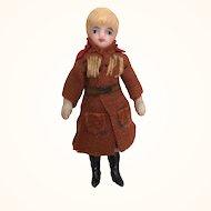 Lilliputian all bisque blonde boy doll