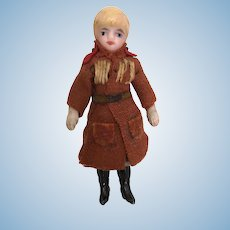 Lilliputian all bisque blonde boy doll