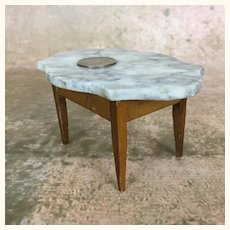 Miniature marble topped dollhouse table