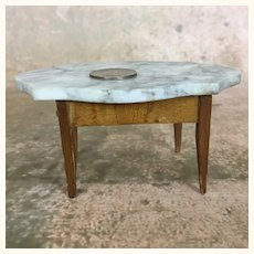 Vintage Miniature marble topped dollhouse table