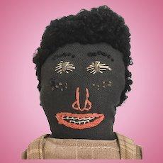 Handmade Black Folk art Cloth doll