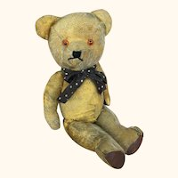 Antique and well loved English Teddy bear