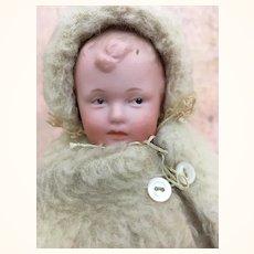 German bisque character baby by Gebruder Heubach