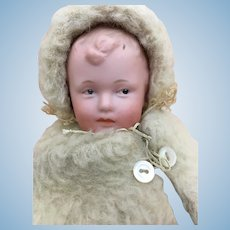 German bisque character baby by Gebruder Heubach