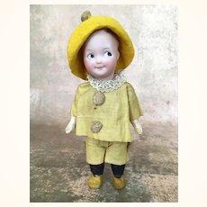 Gebruder Heubach Bisque Head Rare Googly in Factory original Costume