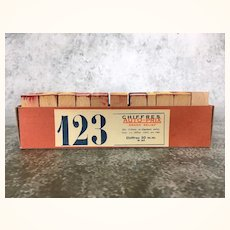 Vintage set French rubber stamp numbers