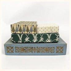 Four vintage Christmas boxes