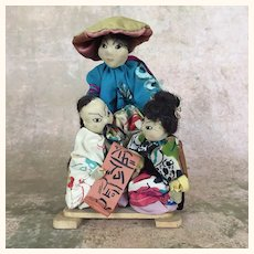 Vintage artist dolls depicting Chinese people