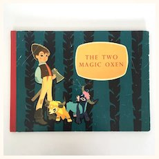 "Vintage Children's Book ""The Two Magic Oxen"""