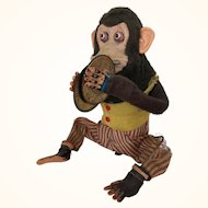 Vintage Musical Jolly Chimp Monkey Clapping Toy with Cymbals