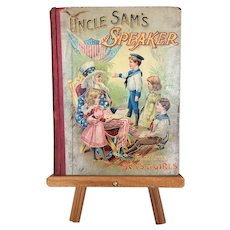 "Antique Book for Children ""Uncle Sam's Speaker"" published 1899"