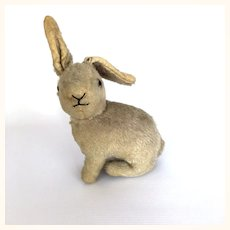 Vintage mohair toy bunny