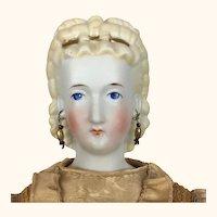 Antique Conta Böhme blonde parian doll in original clothing