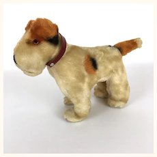 Vintage plush companion terrier dog companion for your doll