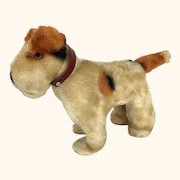 Vintage plush companion terrier dog companion for your doll