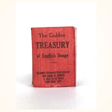 "Early vintage miniature Book ""Golden Treasury of English Songs"""