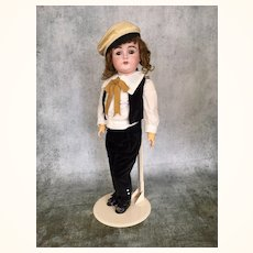German bisque head boy doll by Kestner, Model 167