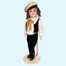 German bisque head boy doll by Kestner, Model 167: FREE US SHIPPING THROUGH JULY 15