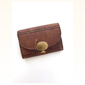 Older Vintage miniature leather doll purse