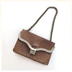 Very old Leather doll purse with surprise inside