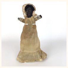 Antique black cloth baby doll