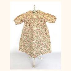 Antique handsewn calico doll dress