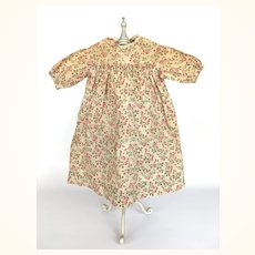 Antique handsewn calico doll dress