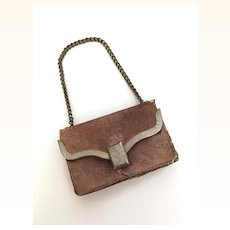 Very old Leather doll purse