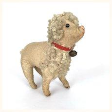 Antique folk art flannel poodle