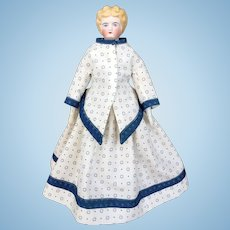 Blonde parian doll with nice legs
