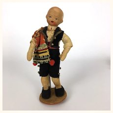 Vintage boy doll in Mexican mariachi outfit, 1950's