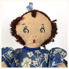 Vintage 1940's topsy turvy cloth doll