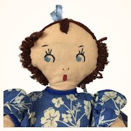 Vintage 1940's topsy turvy cloth doll