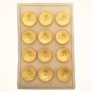 Vintage card of large yellow buttons