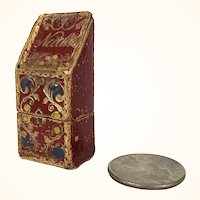 Antique needlecase with gilt pattern