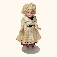 Simon Halbig/ Kammer Reinhardt miniature doll in folkloric costume