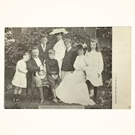 Antique Postcard of Teddy Roosevelt and Family