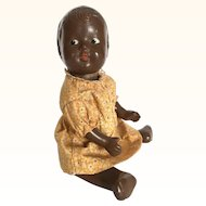 Vintage composition black baby doll