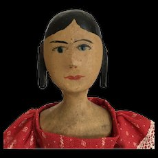 House of Seven Gables doll in red dress