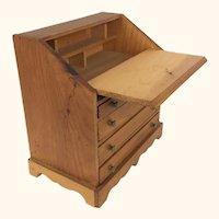 Vintage doll sized wooden desk