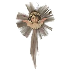 Vintage Victorian style Christmas angel ornament